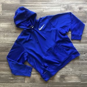 Blue NIKE Therma-Fit Pullover Hoodie Size Large